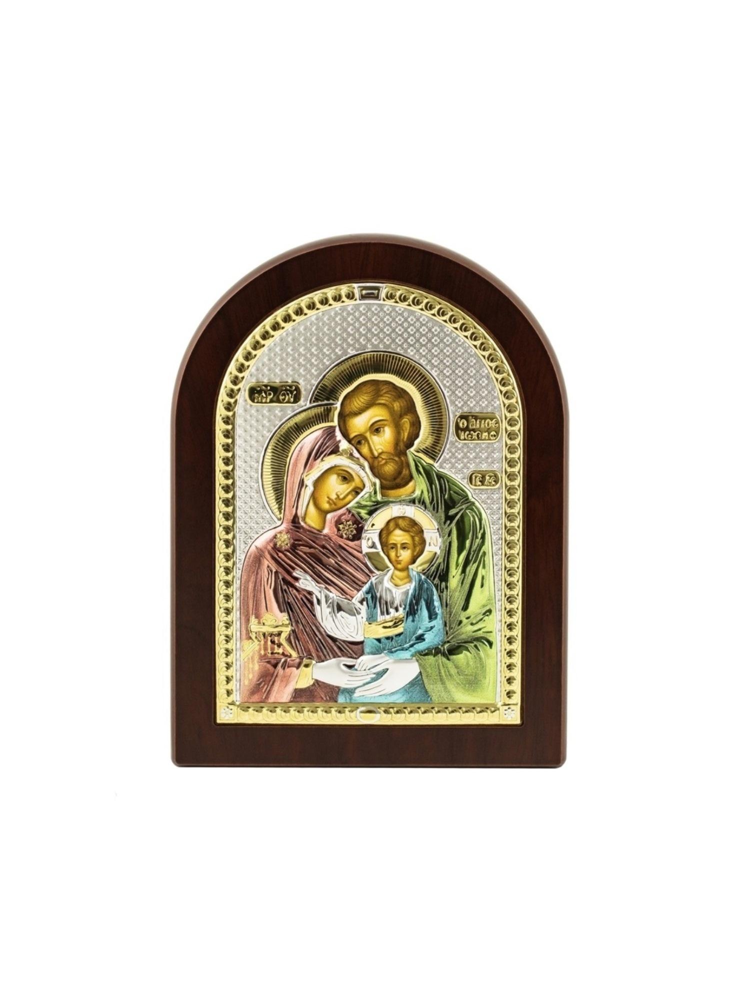 Икона АргентА Святое семейство (7,5*11), серебристый