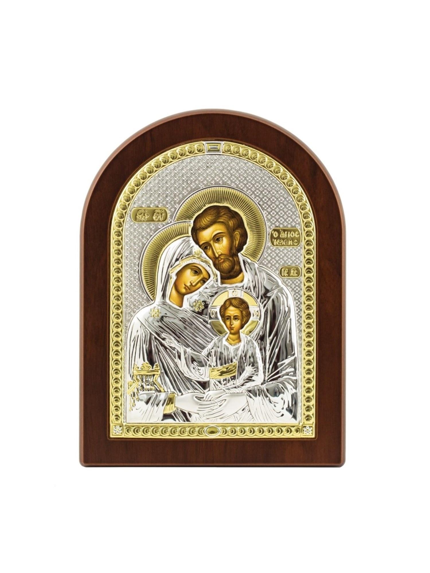 Икона АргентА Святое семейство 12 х 16, серебристый иконы