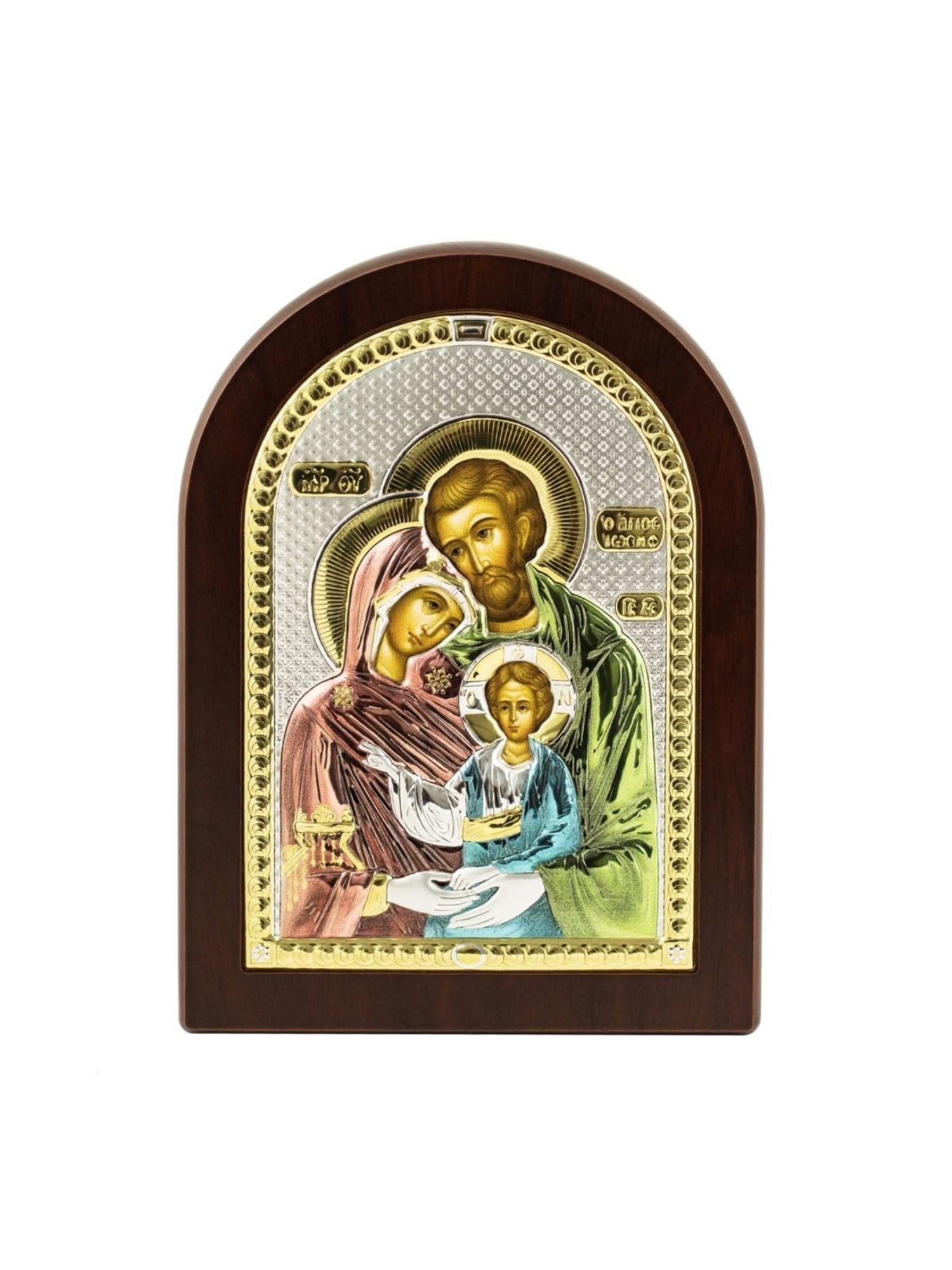 Икона АргентА Святое семейство 12 х 16 посеребренная