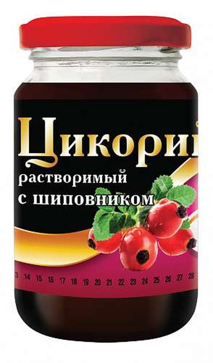 Цикорий растворимый Русский цикорий, с шиповником, 200 г цикорий растворимый натуральный fitolain 100 г