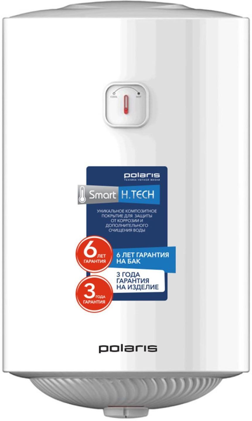 Водонагреватель электрический Polaris PM 80V Slim, настенный, белый, 80 л