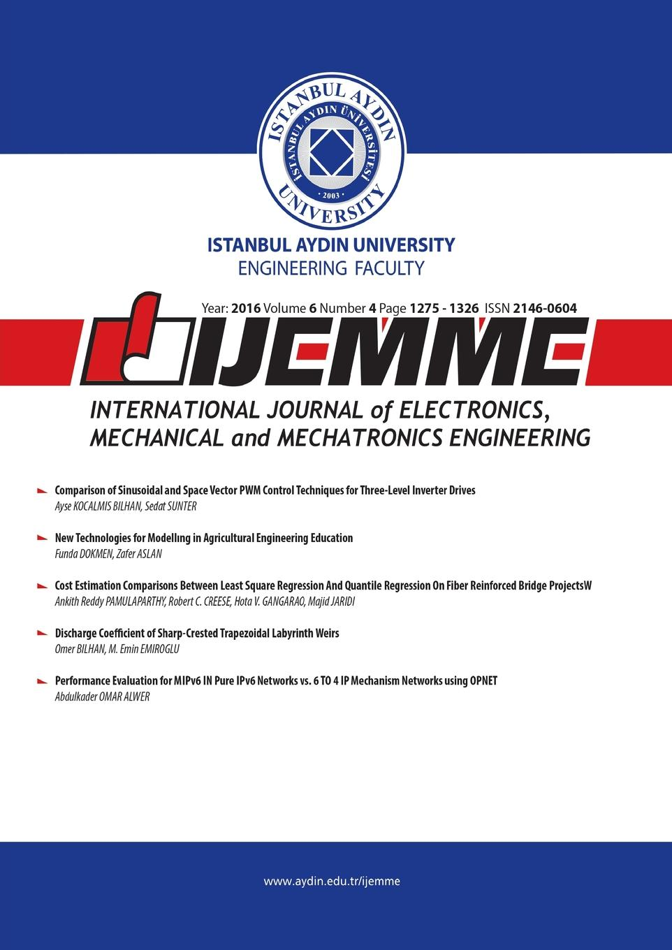 IJEMME. International Journal of Electronics, Mechanical and Mechatronics Engineering j davim paulo mechanical engineering education