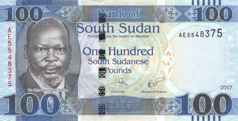 Банкнота номиналом 100 фунтов. Южный Судан. 2017 год банкнота номиналом 500 сирийских фунтов сирия 2013 год
