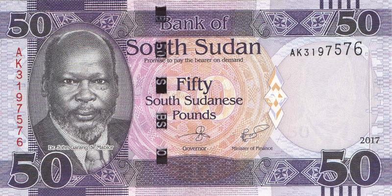 Банкнота номиналом 50 фунтов. Южный Судан. 2017 год банкнота номиналом 500 сирийских фунтов сирия 2013 год