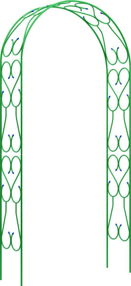 Опора для растений Пикник и Сад Арка садовая декоративная прямая широкая (разборная) 240см*120см*36см, зеленый