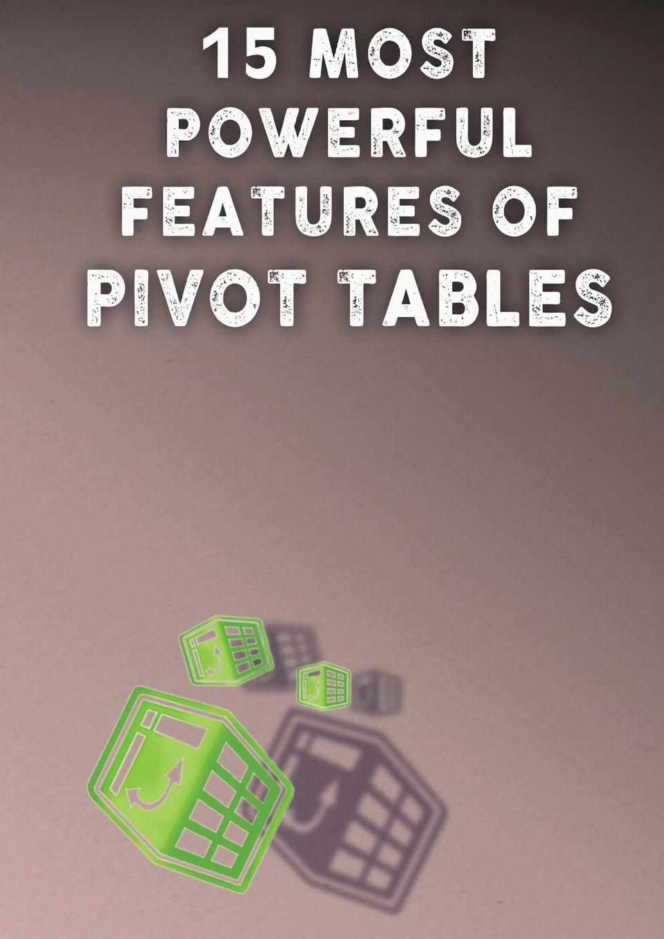 Andrei Besedin 15 MOST POWERFUL FEATURES OF PIVOT TABLES.. Save Your Time With MS Excel. andrew cornell the conceptual foundations of investing a short book of need to know essentials