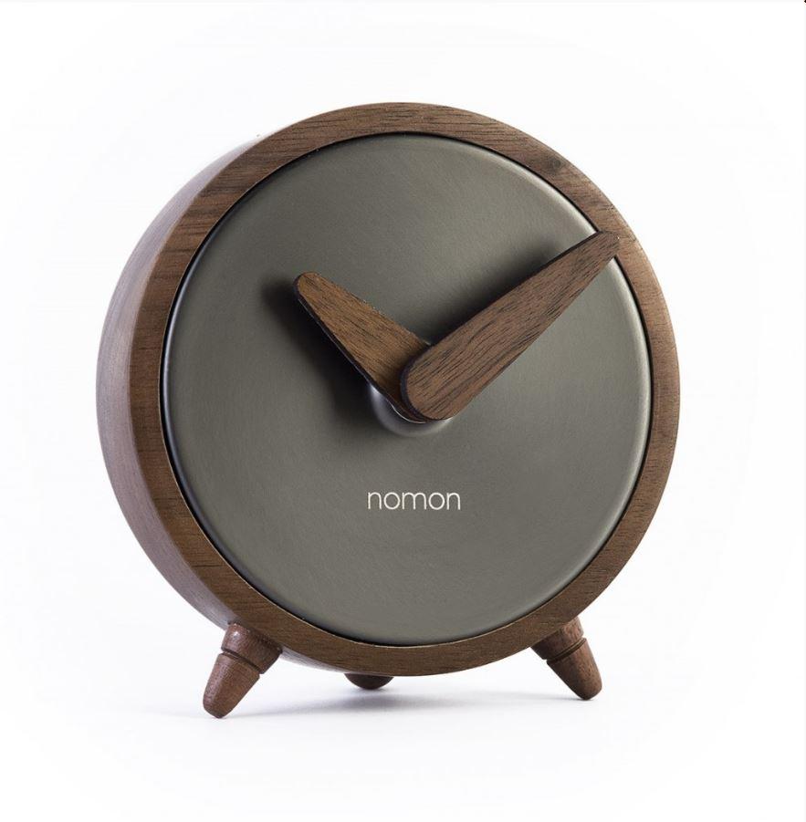Настольные часы Nomon Atomo, Graphite, темно-серый все цены