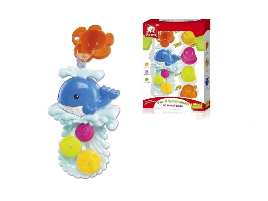 Игрушка для ванной S+S TOYS Не разлей вода с формочками EQ80044R игрушка для ванны s s toys книжка перчатка для купания