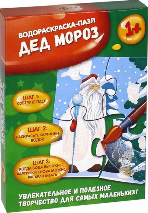 Пазл для малышей Феникс-Премьер Дед Мороз: водораскраска-пазл