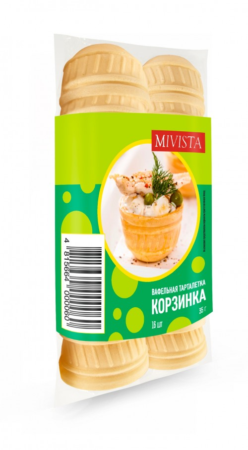 Вафельная тарталетка MIVISTA Корзинка