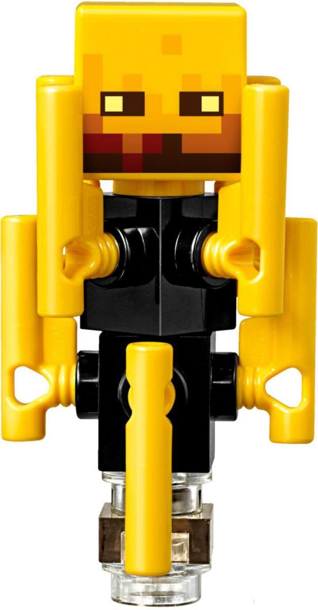 Пластиковый конструктор LEGO 2114321143Надень шлем, доспехи ивозьми алмазный меч. Затем забирайся ввагонетку иотправляйся через портал вжуткое Подземелье. Уклоняйся отатак малыша-свинозомби иопасного лавового куба иостерегайся брызг лавы вовремя путешествия поэтой пылающей местности. Отражай удары свирепого летающего меча игаста, швыряющего огненные шары, исобирай сверкающую светопыль. Будь готов действовать!