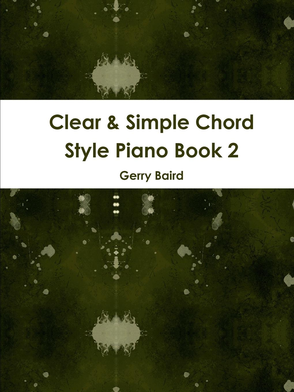 Gerry Baird Clear . Simple Chord Style Piano Book 2 pair of trendy simple style hoop earrings for women