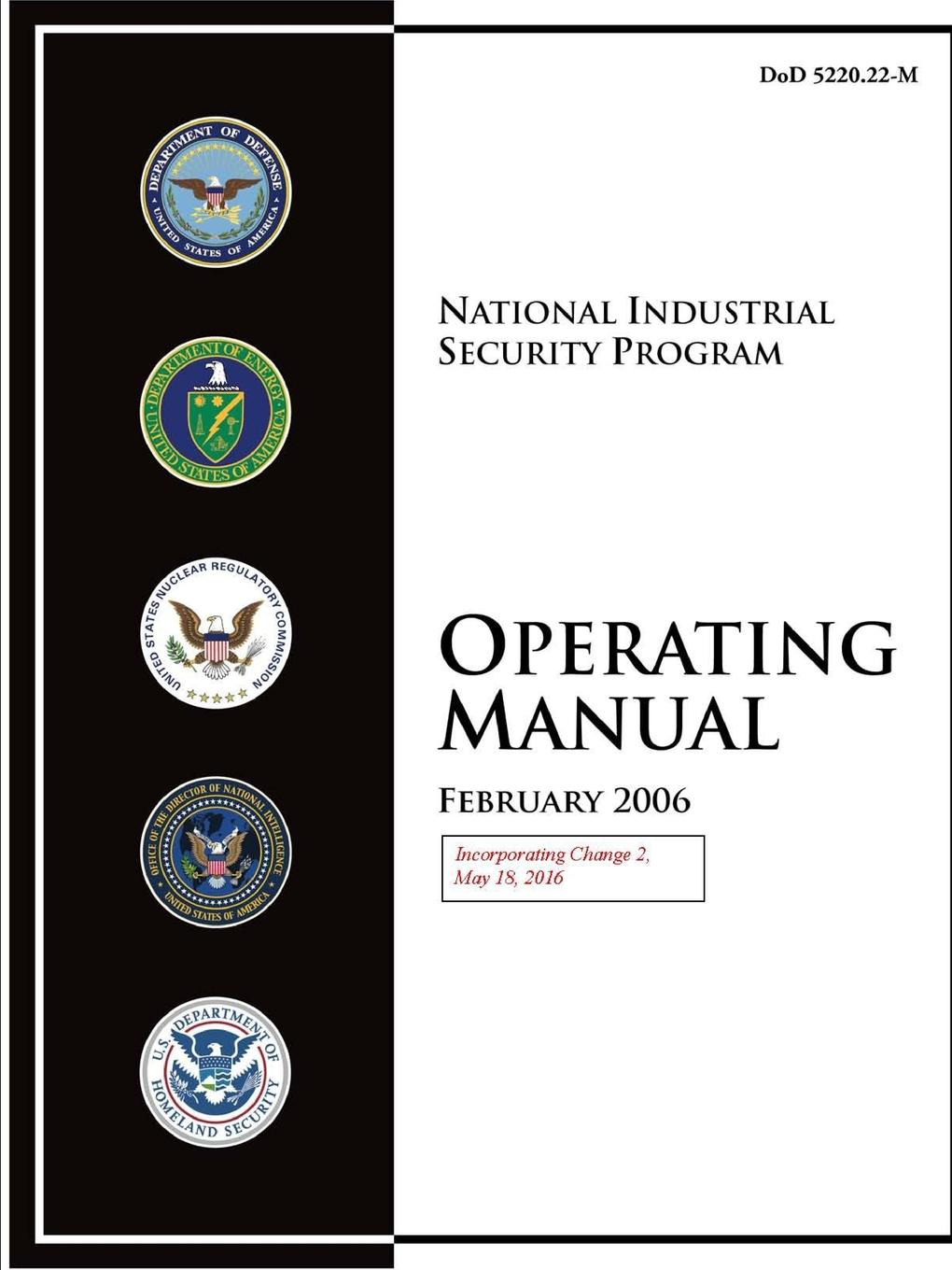 Department of Defense National Industrial Security Program Operating Manual (Incorporating Change 2, May 18, 2016) effectiveness of witness security program