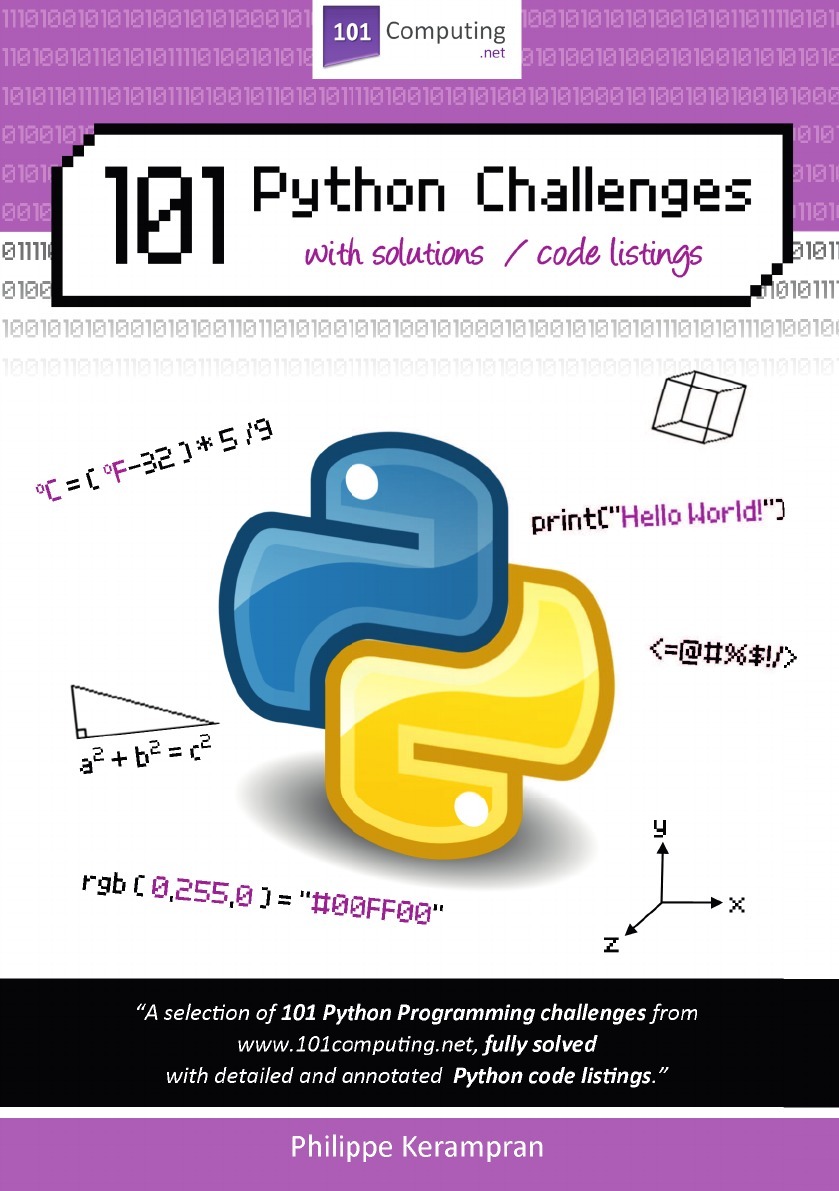 Philippe Kerampran 101 Python Challenges with Solutions / Code Listings james payne beginning python using python 2 6 and python 3 1