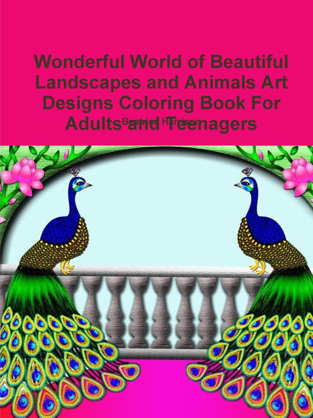 Beatrice Harrison Wonderful World of Beautiful Landscapes and Animals Art Designs Coloring Book For Adults and Teenagers colorful hexagon fidget spinner adhd stress relief toy relaxation gift for adults