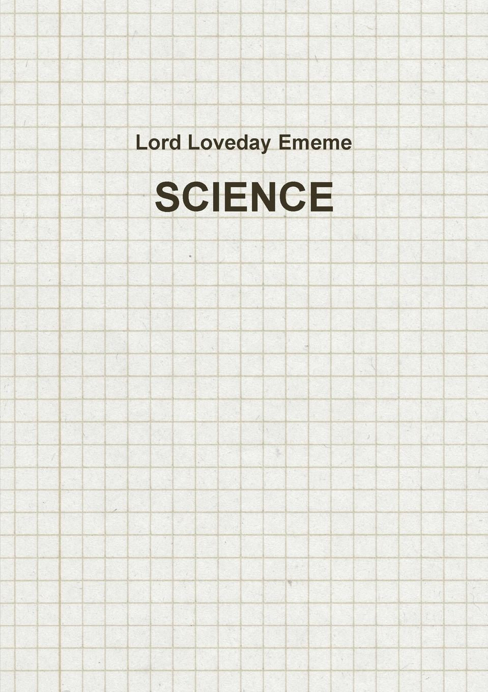 Lord Loveday Ememe SCIENCE цена