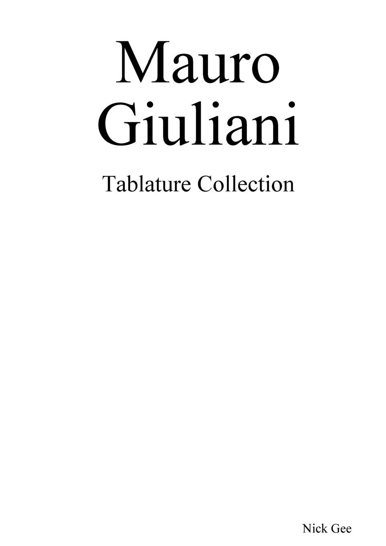 Nick Gee Mauro Giuliani opus 7