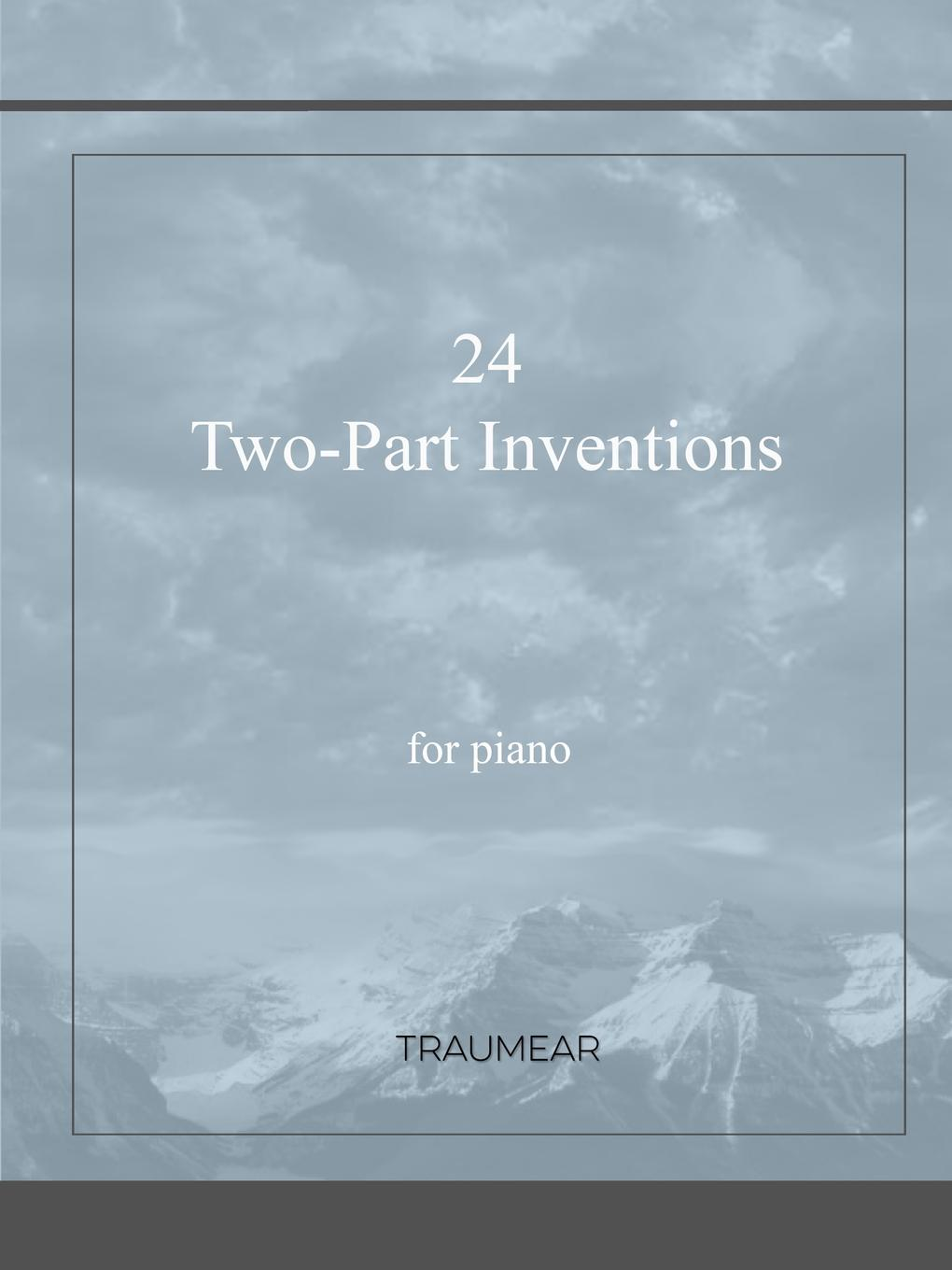 Traumear 24 Two-Part Inventions m carcassi 22 easy and carefully fingered pieces op 14