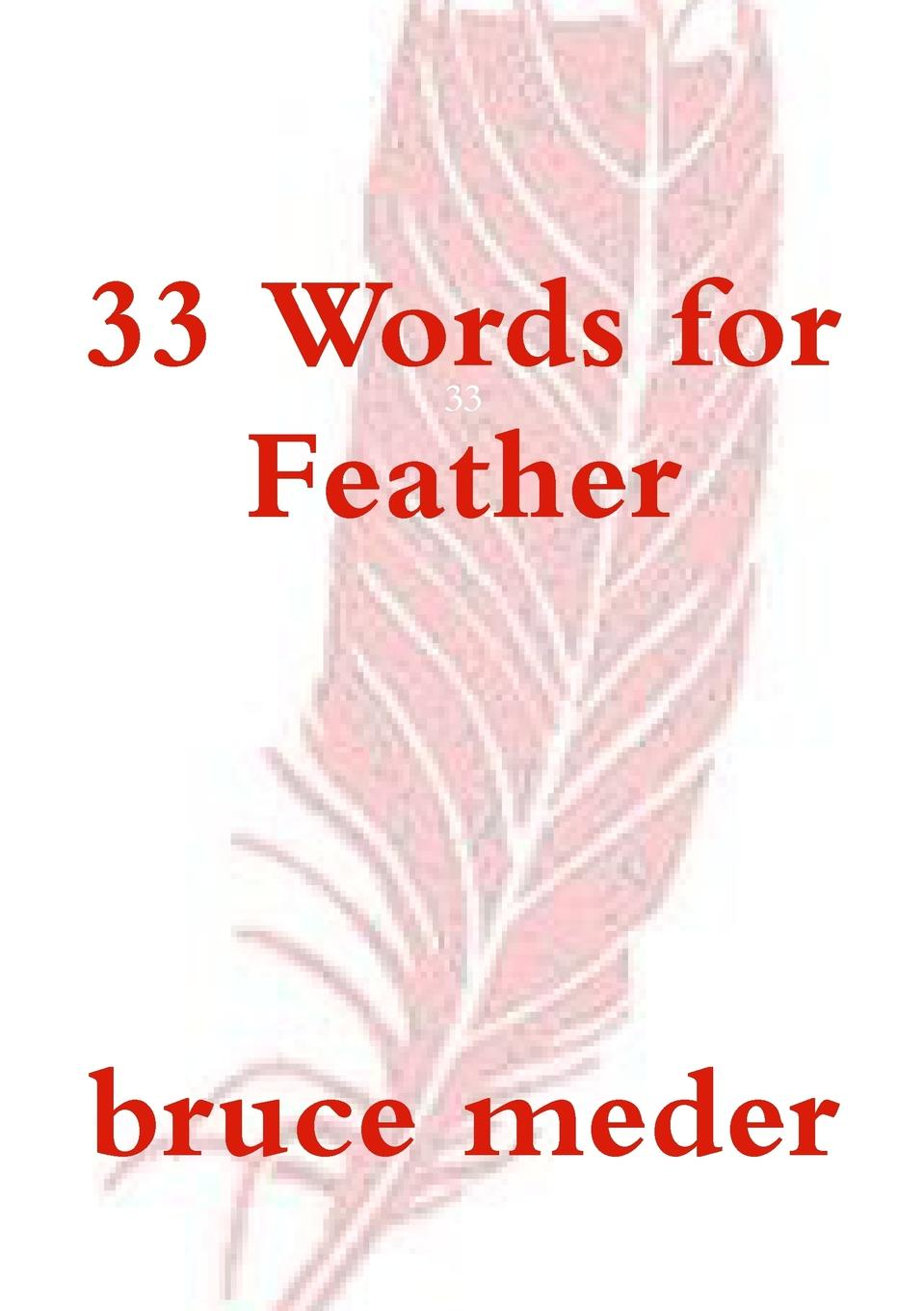 bruce meder 33 Words for Feather wild feathers wild feathers lonely is a lifetime