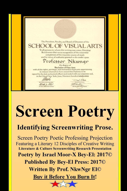 Israel Moor-X Bey El Screen Poetry introducing poetry study