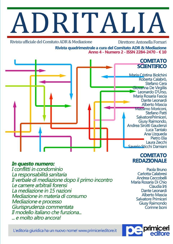 цена Antonella Fornari ADR Italia (Numero 2/2017) онлайн в 2017 году