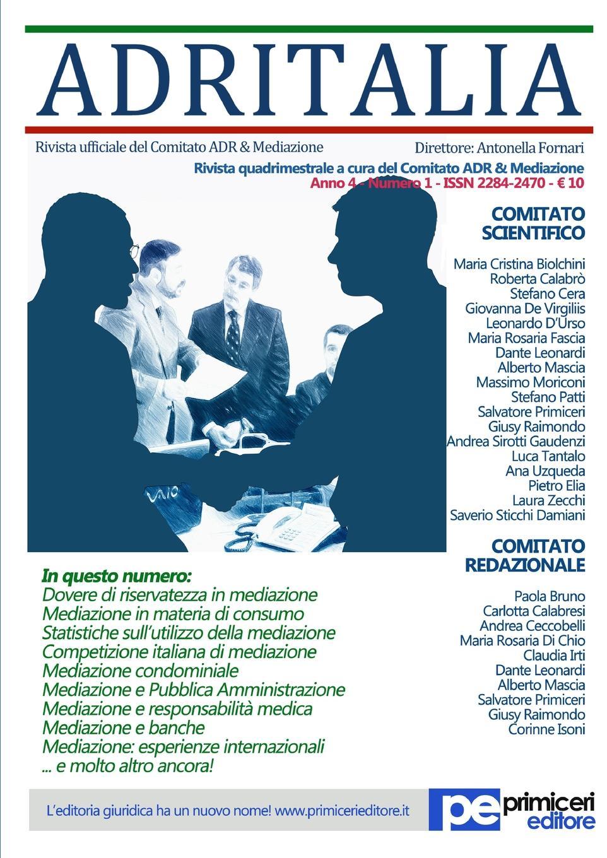 цена Antonella Fornari ADR Italia (Numero 1/2017) онлайн в 2017 году