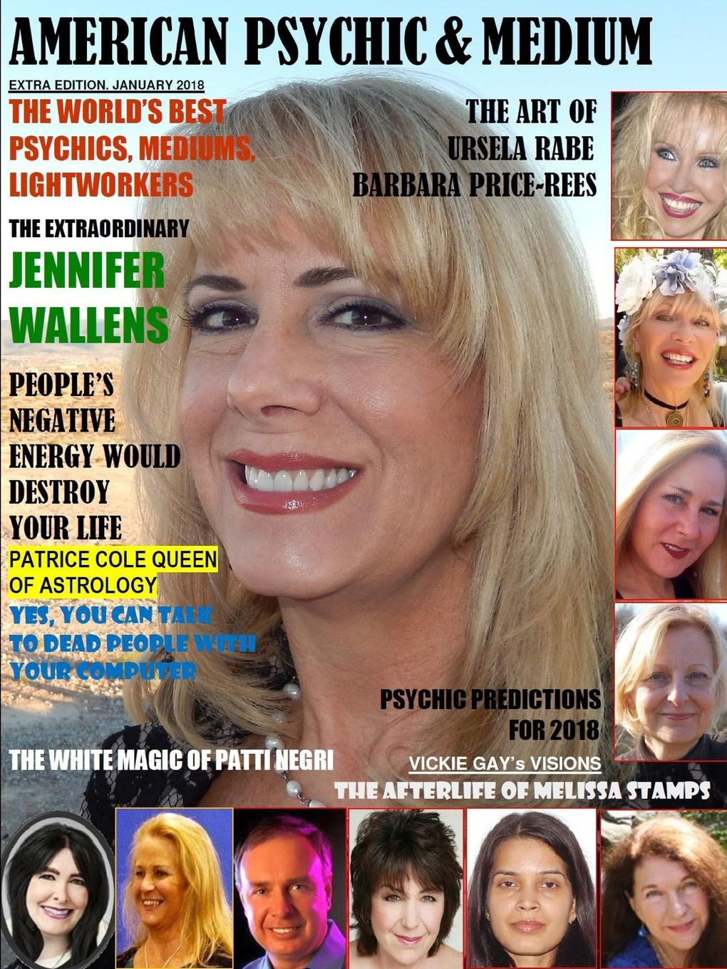 Maximillien de Lafayette American Psychic . Medium Magazine, Extra Edition January 2018.. set wonders in the new year s plaid