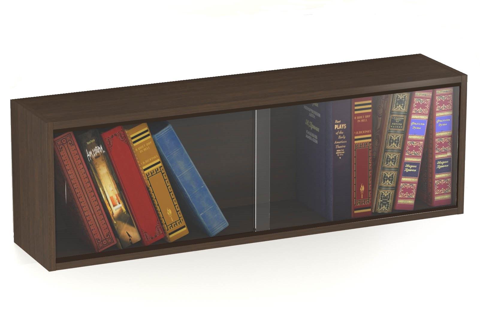 Полка книжная со стеклом Старт-1П, коричневый