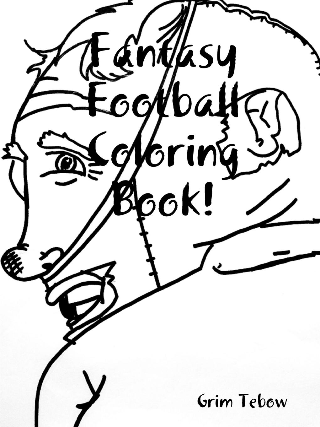 Grim Tebow Fantasy Football Coloring Book. martin signore fantasy football for dummies