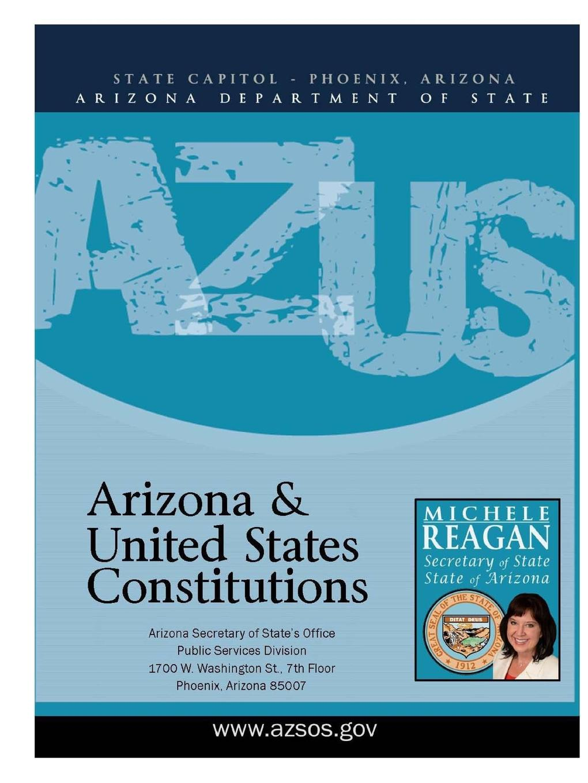 Arizona Department of State Arizona and United States Constitution