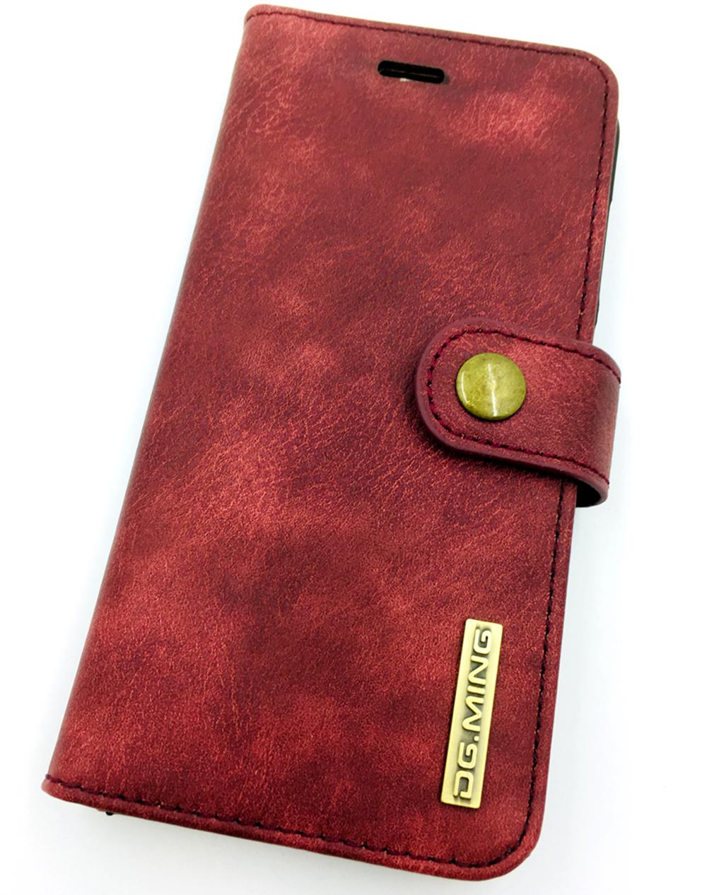Чехол для сотового телефона Мобильная мода Honor 8 lite 2017 Чехол-книжка с отделом для карт и магнитной застежкой, коричнево-красный чехол книжка для lg g4 h815 с магнитной застежкой фиолетовый armor m