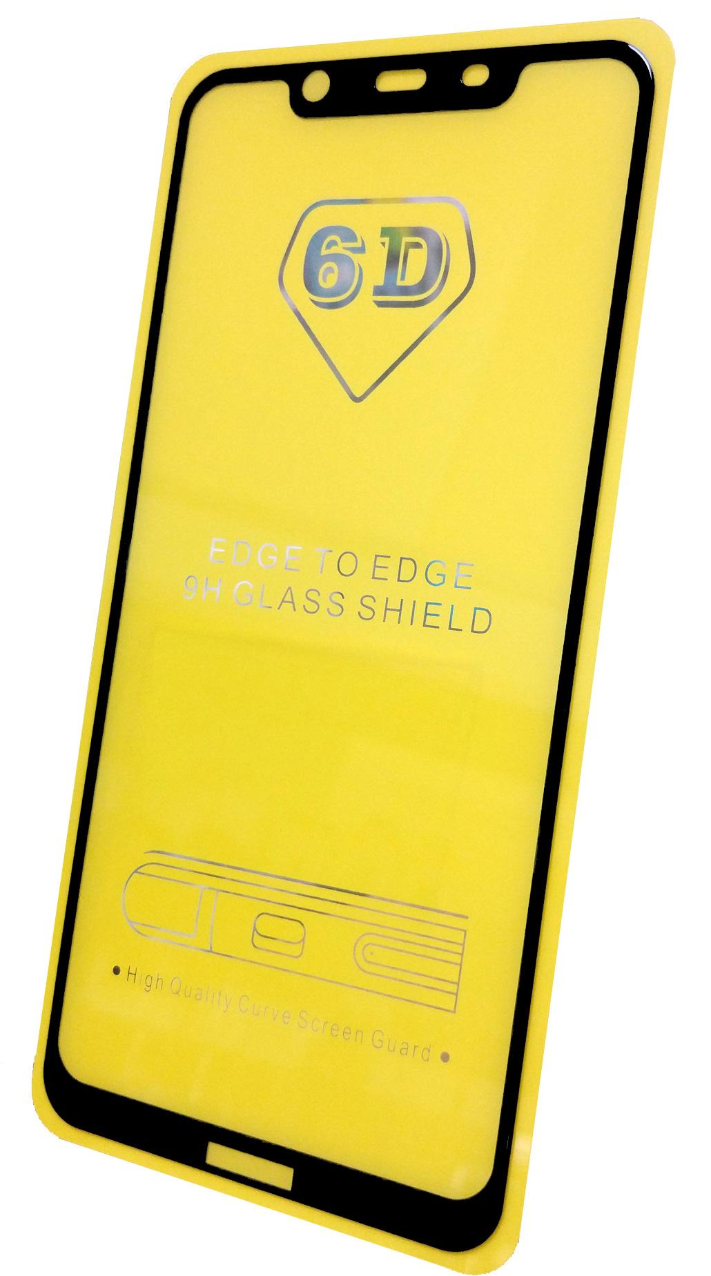 Защитное стекло Nokia 8.1 (полная проклейка черная рамка), черный
