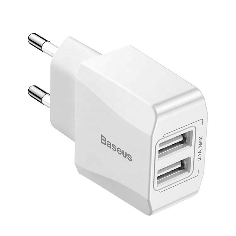 Зарядное устройство Baseus Mini Dual-U Charger, белый