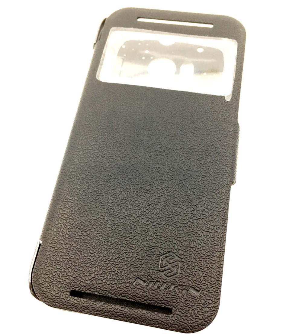 Чехол для сотового телефона Мобильная мода HTC One 2 M8 Чехол-книжка из пластика с информационным окном, черный чехол книжка htc hc v800 880 для one max черный