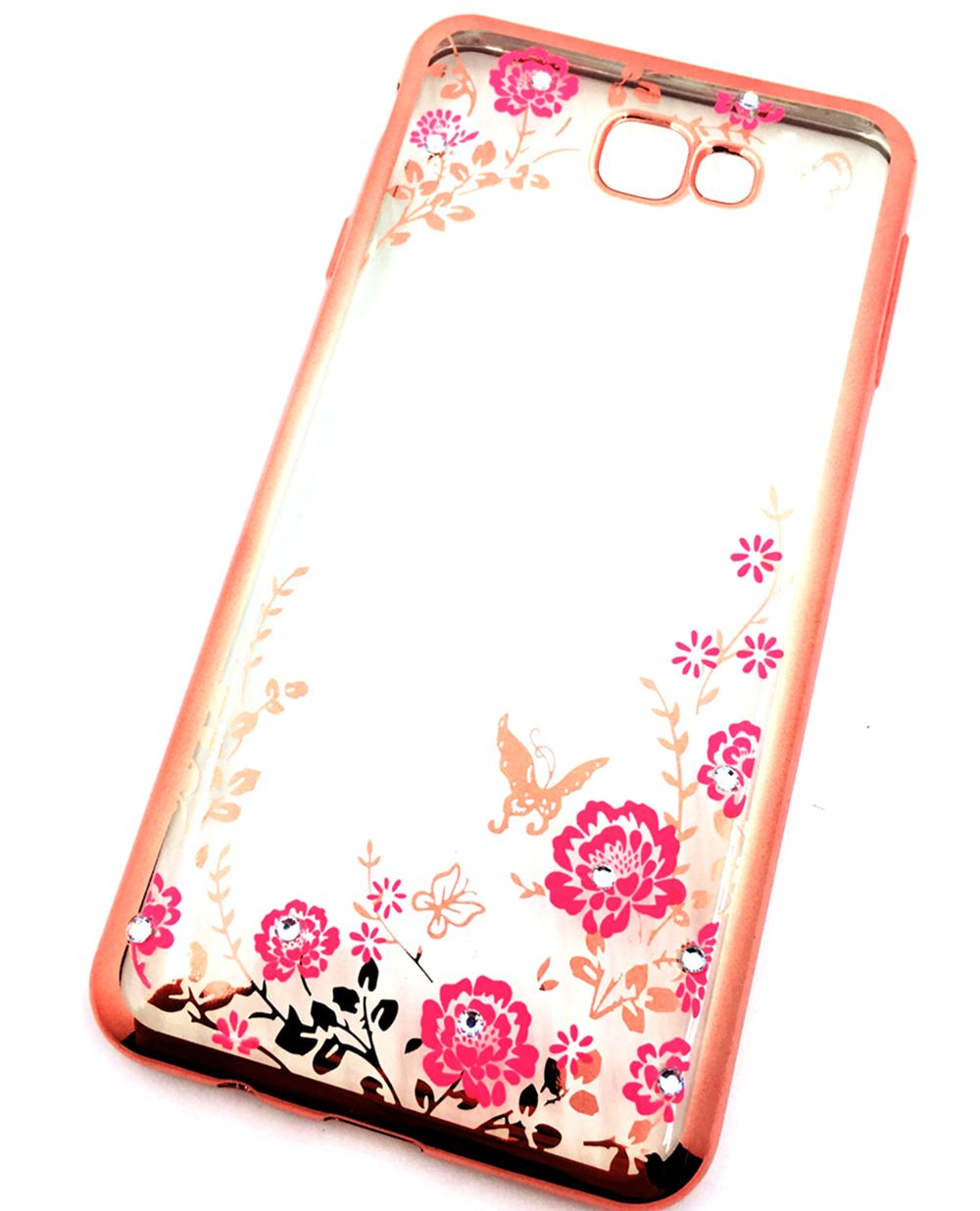 Чехол для сотового телефона Мобильная мода Samsung J7 prime Силиконовая прозрачная накладка со стразами чехол для сотового телефона мобильная мода samsung grand prime g530 j2 prime накладка силиконовая jelly case