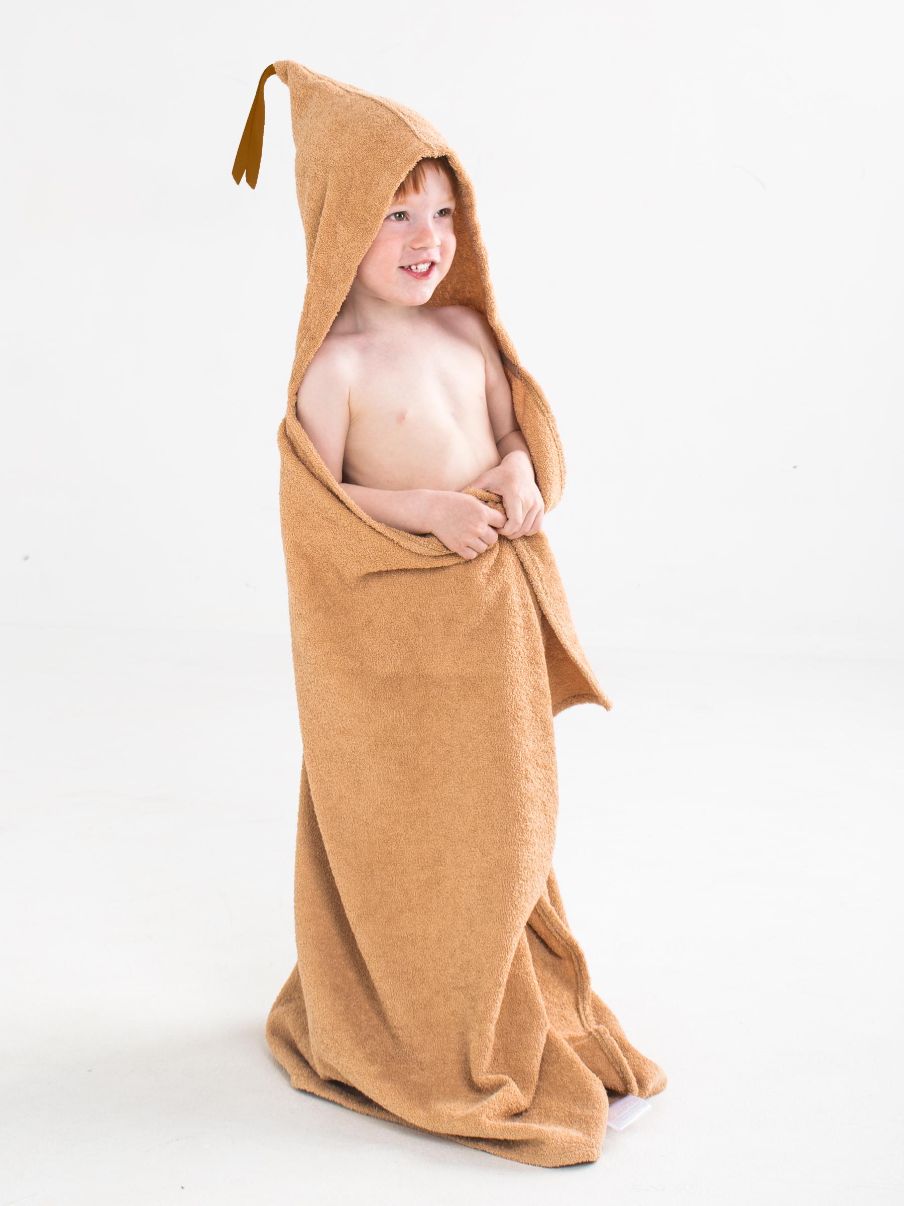 Полотенце детское BabyBunny Полотенце с капюшоном - Бежевое, M, бежевый imsevimse полотенце с капюшоном cова