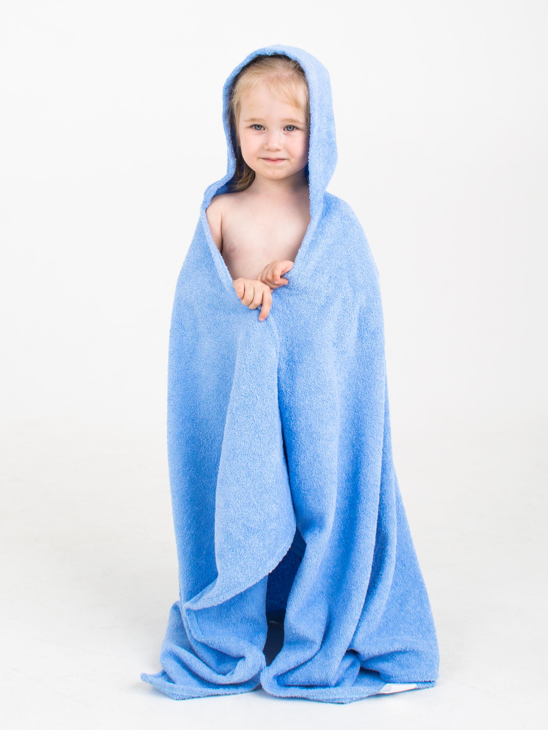 Полотенце детское BabyBunny Полотенце с капюшоном - Голубое, M, голубой imsevimse полотенце с капюшоном cова