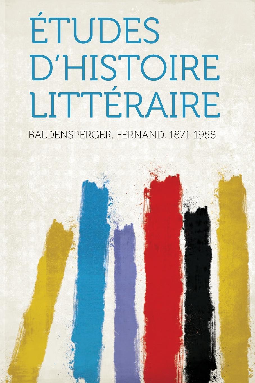 Etudes D.histoire Litteraire