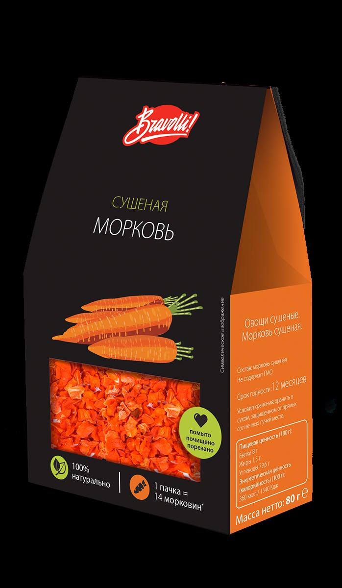 Морковь сушеная Bravolli, 80 г Bravolli