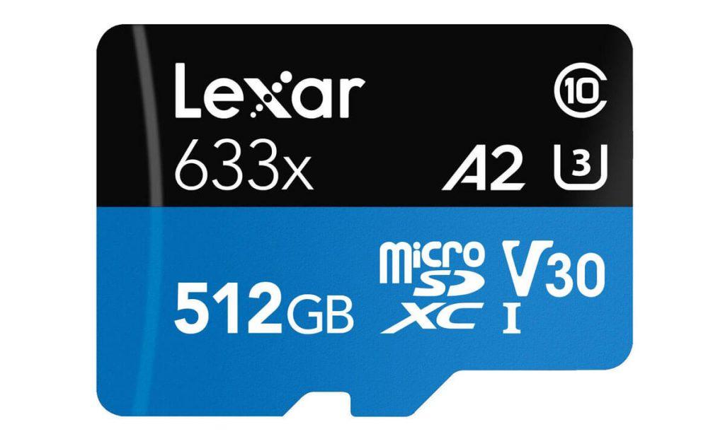 Карта памяти Lexar MicroSDXC 512GB Class 10 UHS-I 633х (100 Mb/s) + SD адаптер