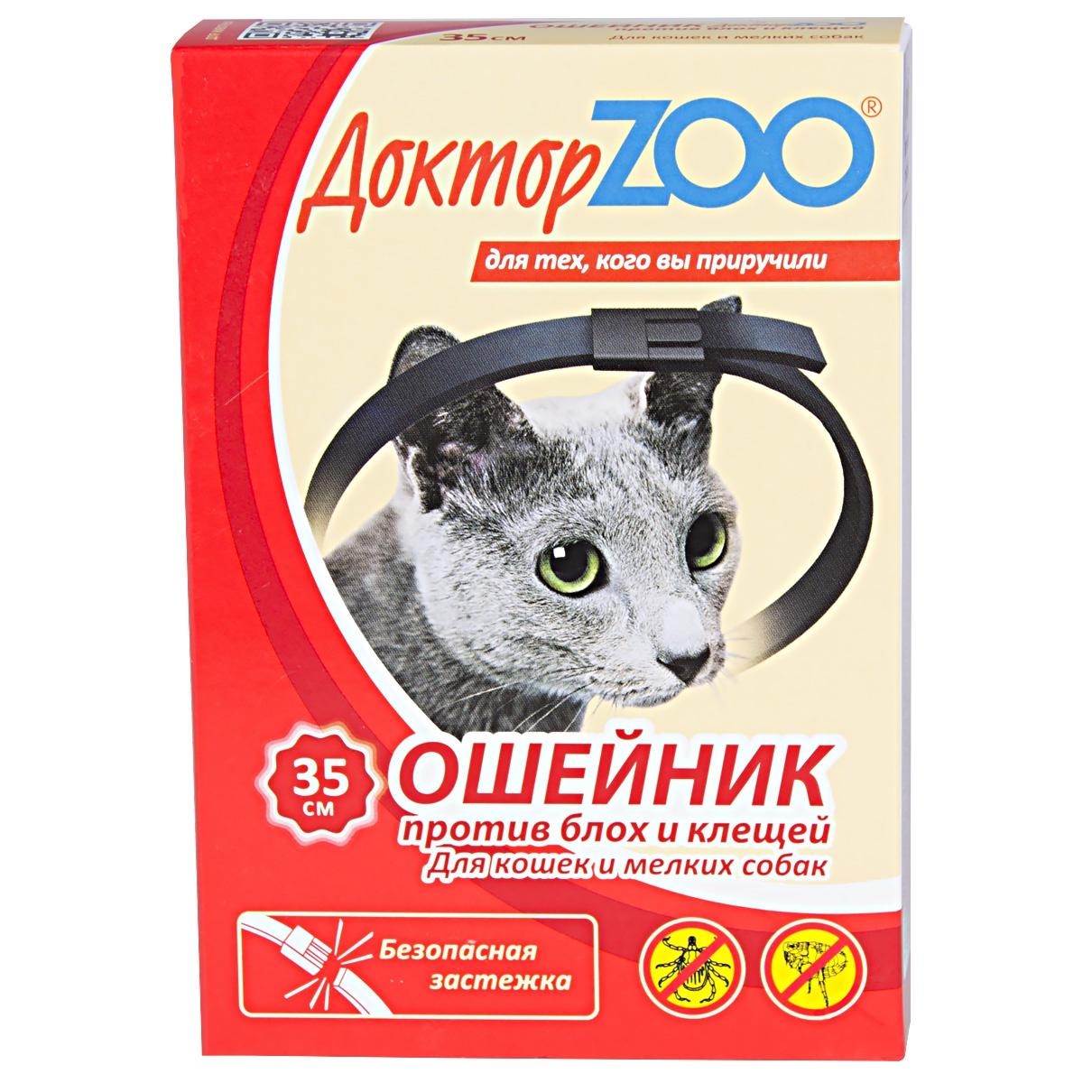 Лечебный ошейник Фауна Доктор ZOO Доктор ZOO для кошек и мелких собак, черный