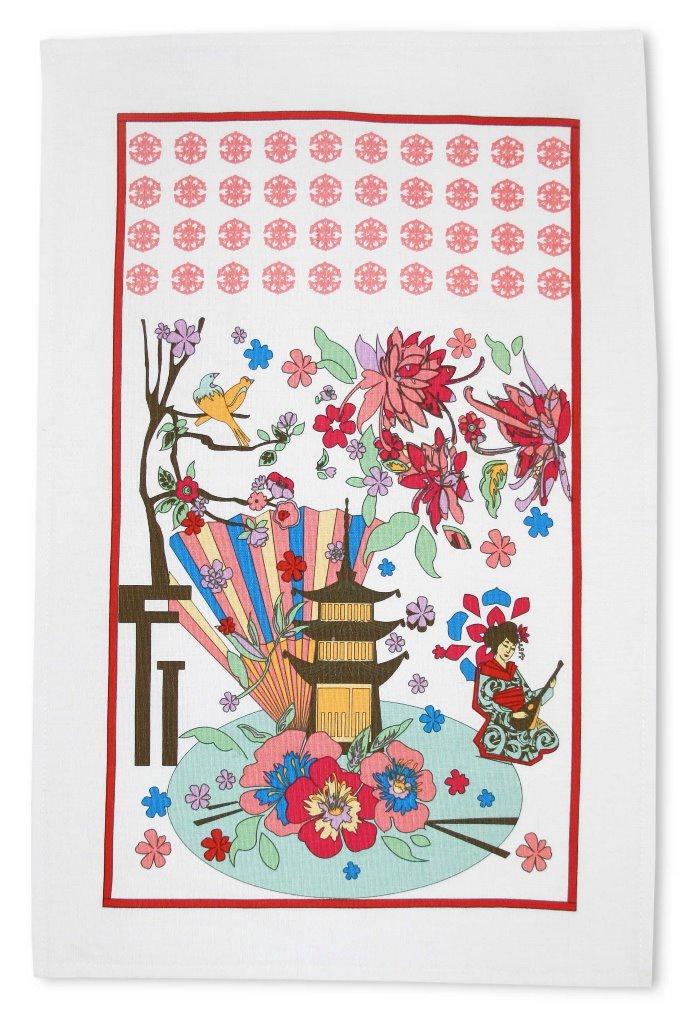 Полотенце кухонное Bonita Япония, разноцветный путешествие япония видео