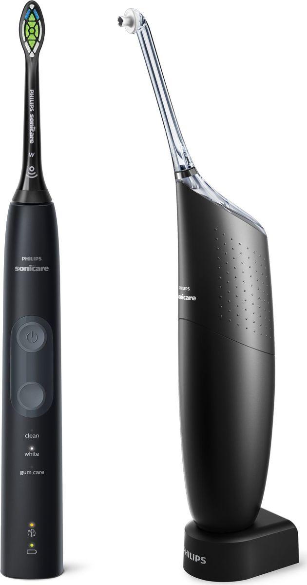 Набор 2 в 1 Philips Sonicare HX8424/32 ирригатор AirFloss Pro/Ultra + электрическая зубная щетка ProtectiveClean