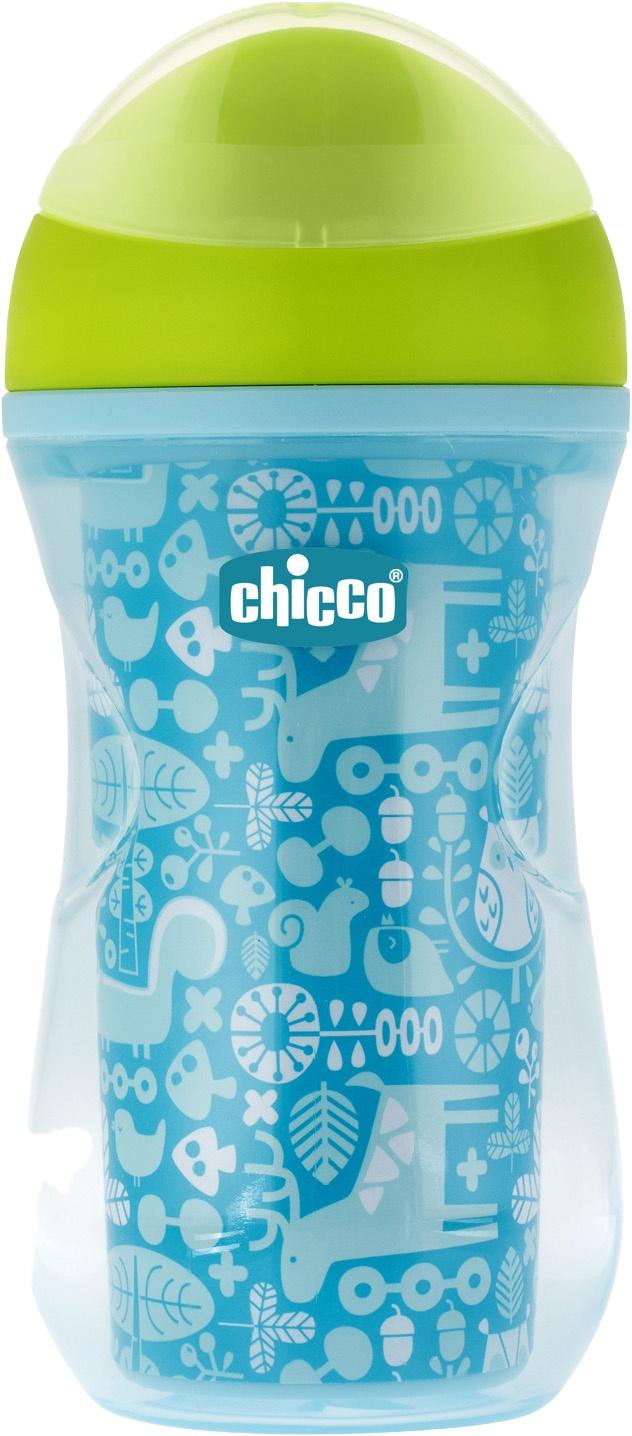 Поильник Chicco Active Cup (носик ободок) голубой