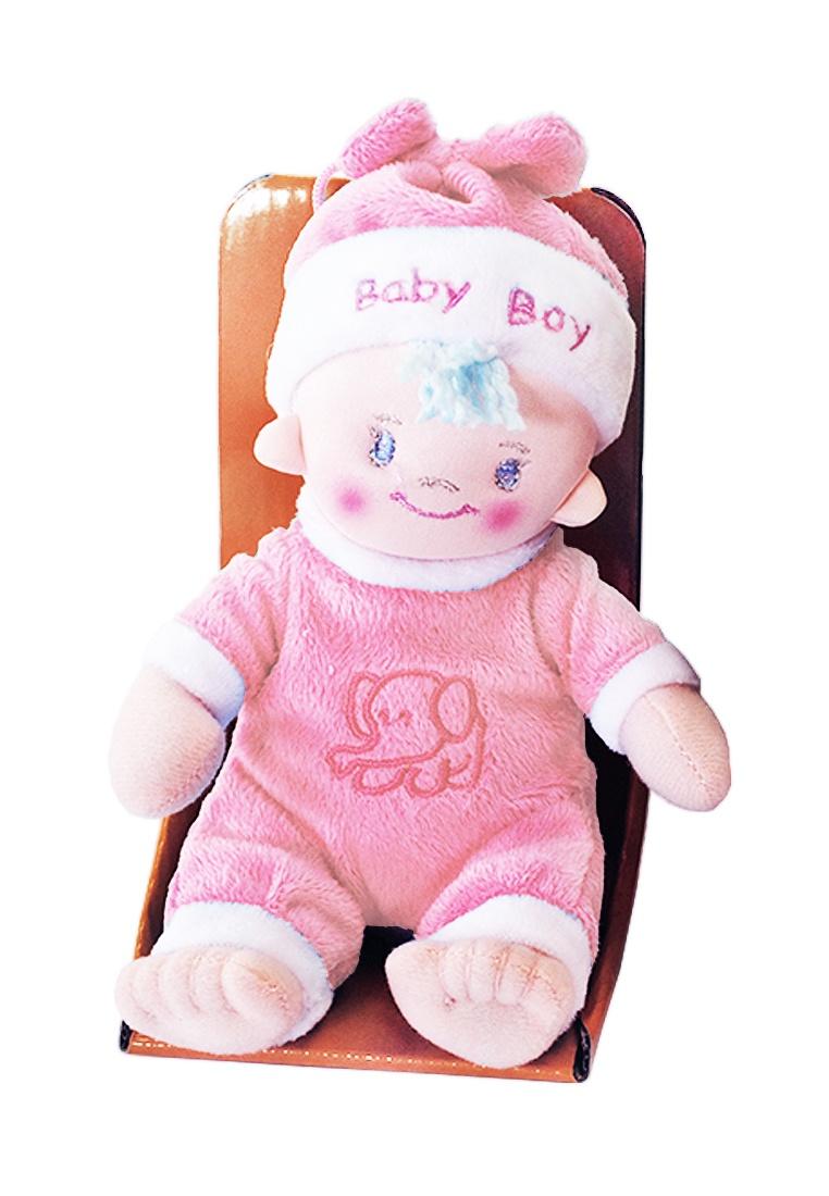 Мягкая кукла TashaToys Игрушка мягконабивная. Пупс в комбинезоне. розовый кукла berbesa виниловая 42см пупс новорожденный 5110