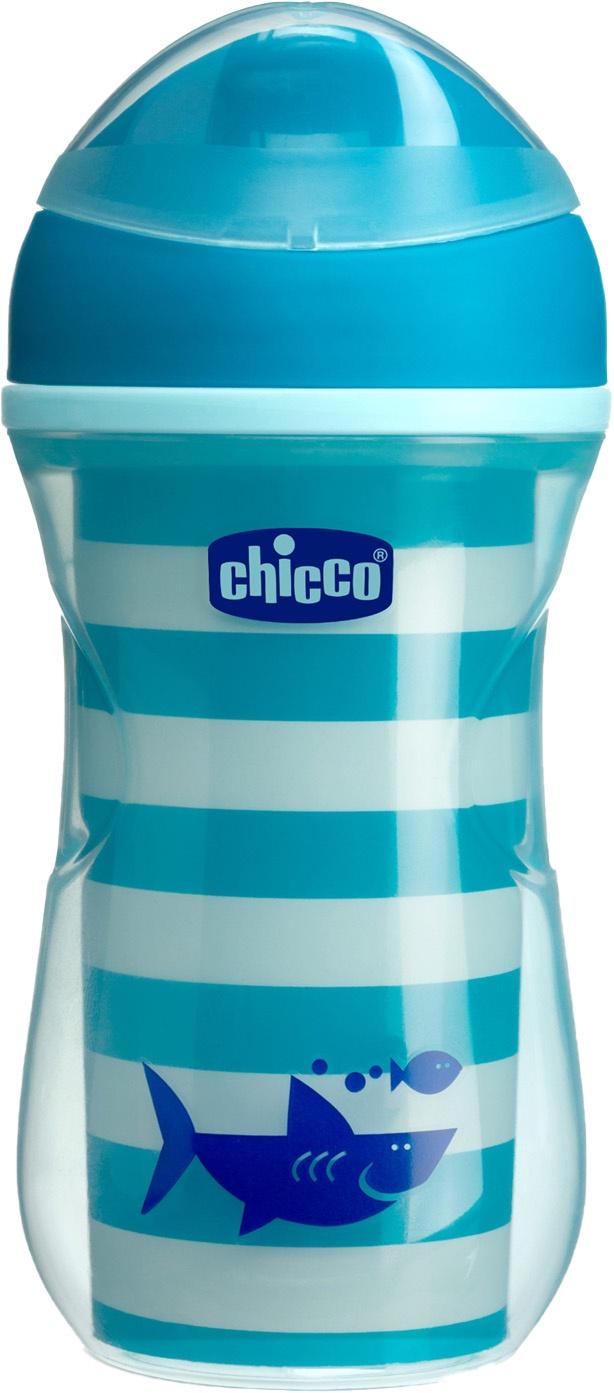 Поильник Chicco Active Cup (носик ободок) синий