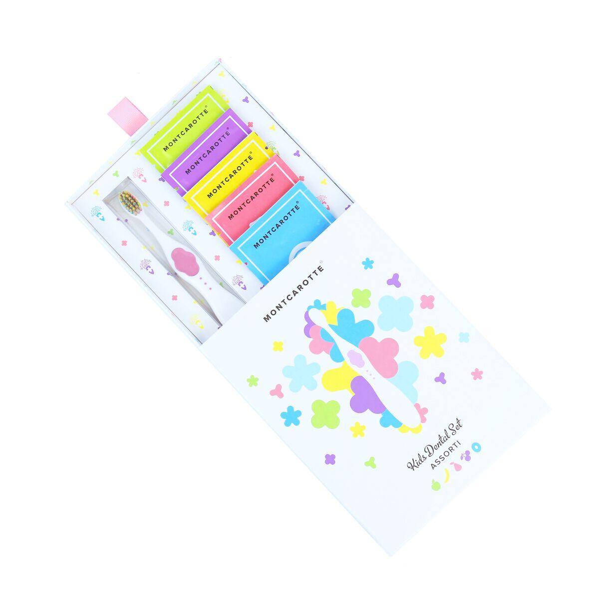 Подарочный набор Розовый детской косметики для зубов для детей