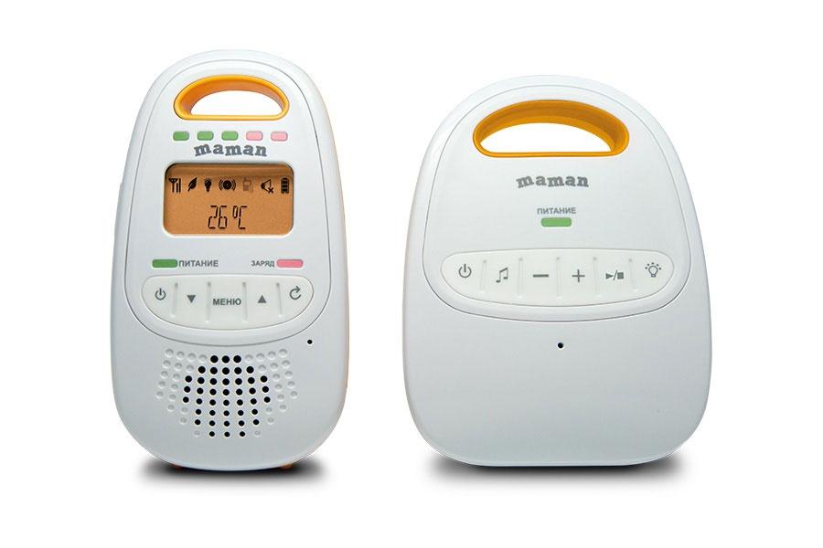 Радионяня Maman BM2000 белый, оранжевый plockmatic bm2000