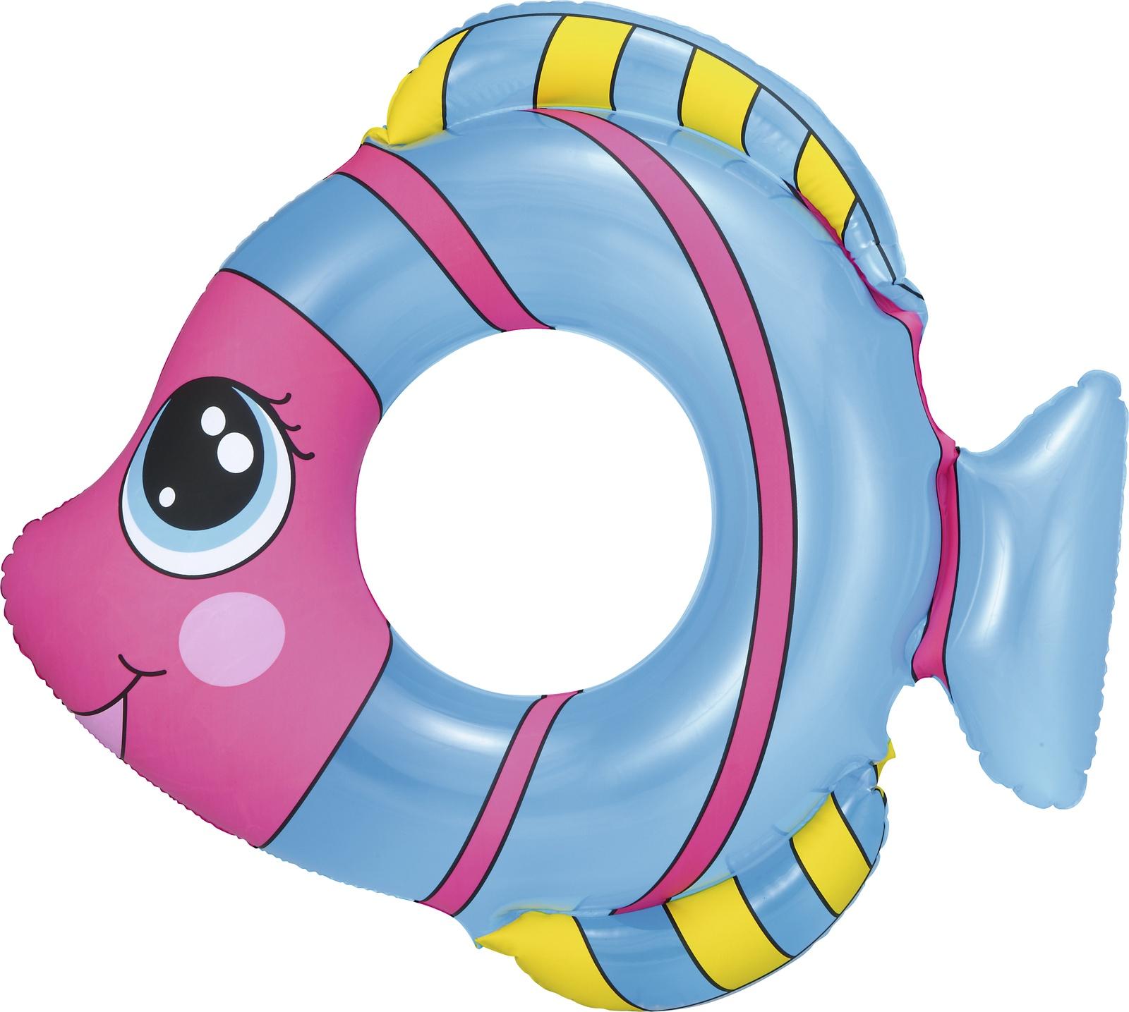 Надувной круг Bestway 36111, синий bestway детская маска для подводного плавания море bestway синий
