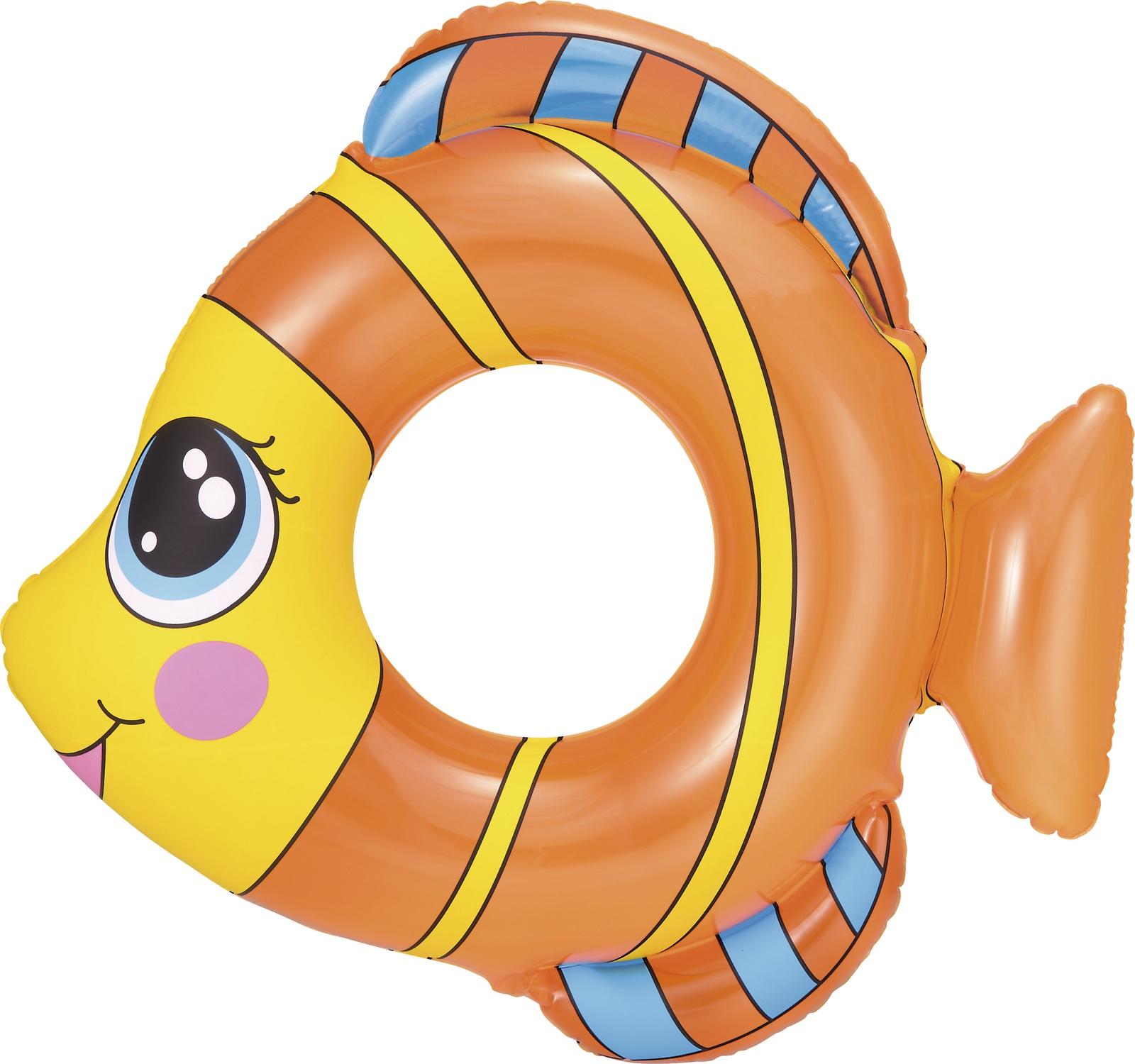 Надувной круг Bestway 36111, оранжевый bestway детская маска для подводного плавания море bestway синий
